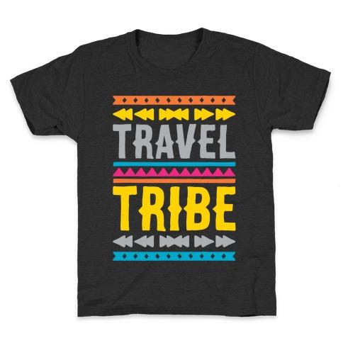 Travel Tribe White Print Kids T-Shirt