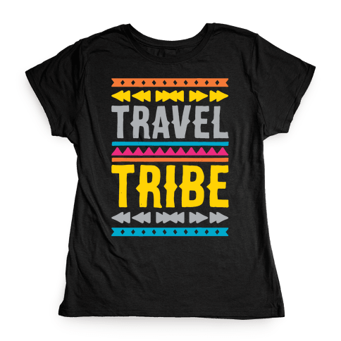 Travel Tribe White Print Womens T-Shirt
