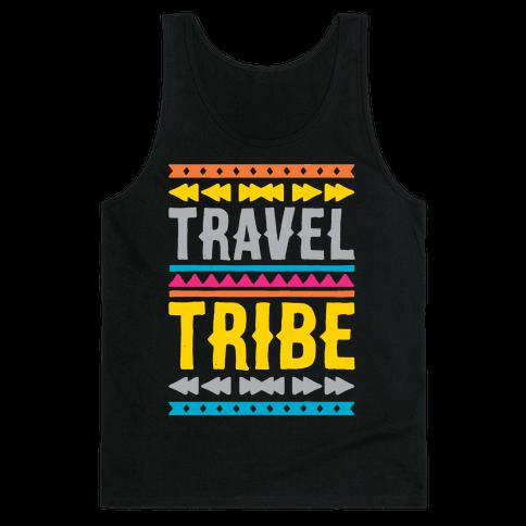 Travel Tribe White Print Tank Top