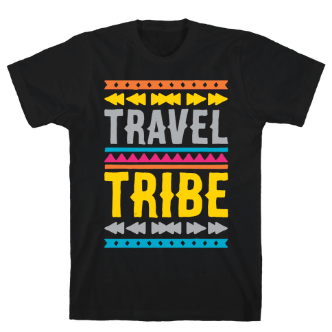 Travel Tribe White Print Mens T-Shirt
