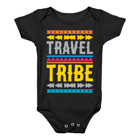 Travel Tribe White Print Baby Onesy