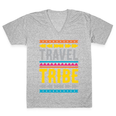 Travel Tribe White Print V-Neck Tee Shirt