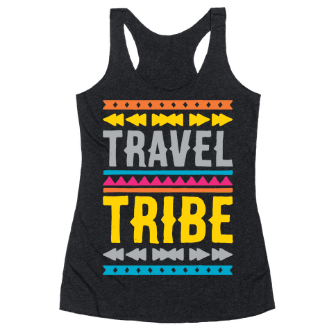 Travel Tribe White Print Racerback Tank Top