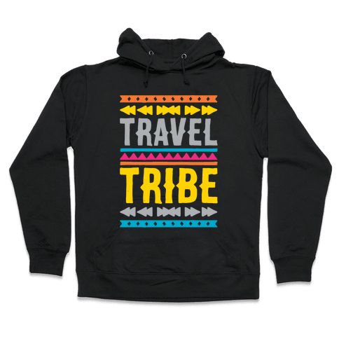 Travel Tribe White Print Hooded Sweatshirt