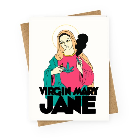 Virgin Mary Jane Greeting Card