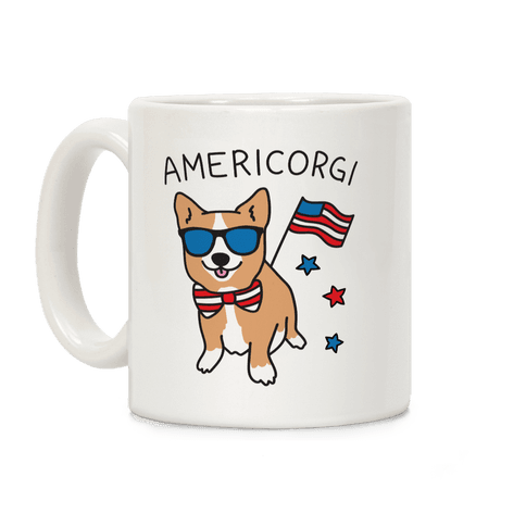 AmeriCorgi Patriotic Corgi Coffee Mug