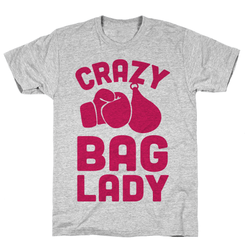 Crazy Bag Lady Mens T-Shirt