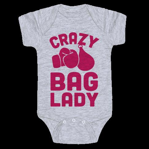 Crazy Bag Lady Baby Onesy
