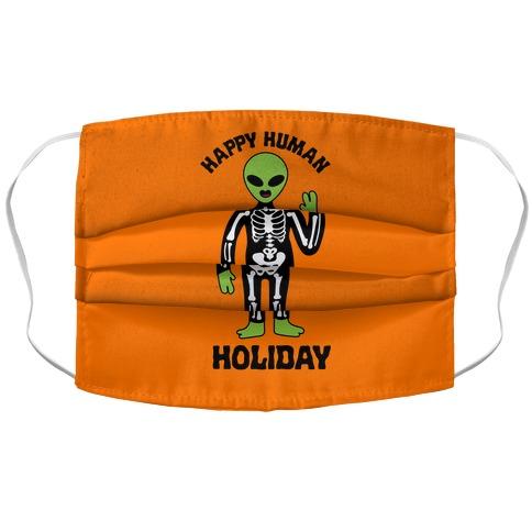 Happy Human Holiday Accordion Face Mask