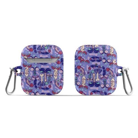 Phallic Witchy Things Pattern AirPod Case