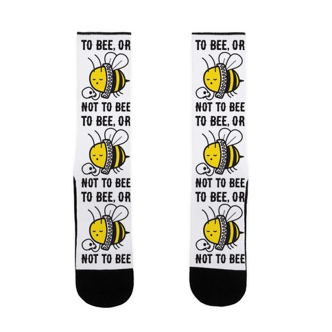 To Bee, Or Not To Bee Shakespeare Bee Sock
