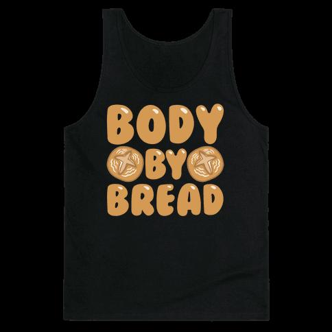 Body By Bread White Print Tank Top