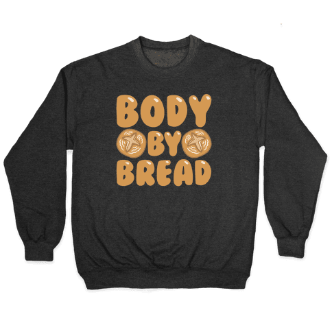 Body By Bread White Print Pullover