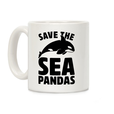 Save The Sea Pandas Mug Coffee Mug