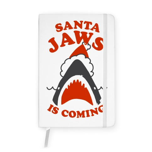 Santa Jaws Is Coming Notebook