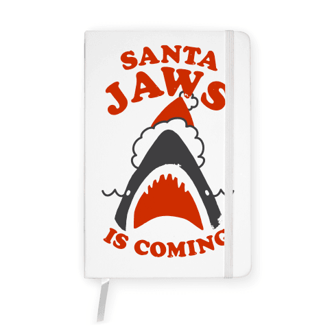 Santa Jaws Is Coming Notebook