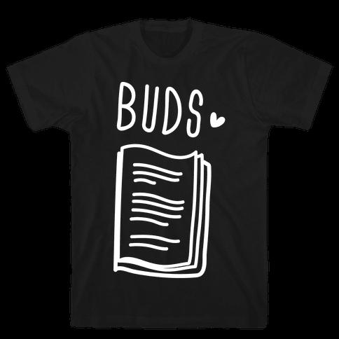 Book Buds 2 (White) Mens T-Shirt