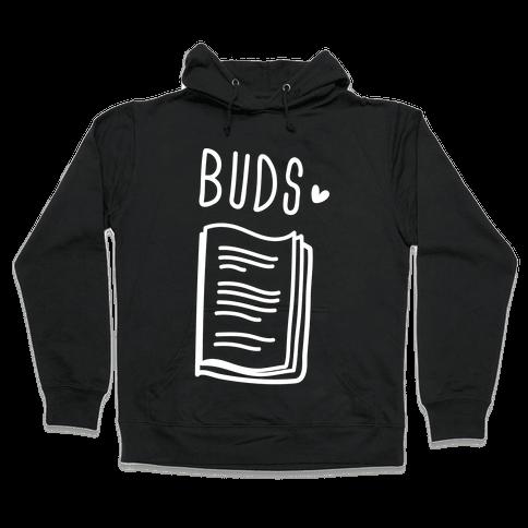Book Buds 2 (White) Hooded Sweatshirt