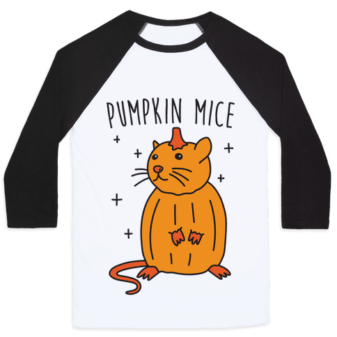 Pumpkin Mice Baseball Tee