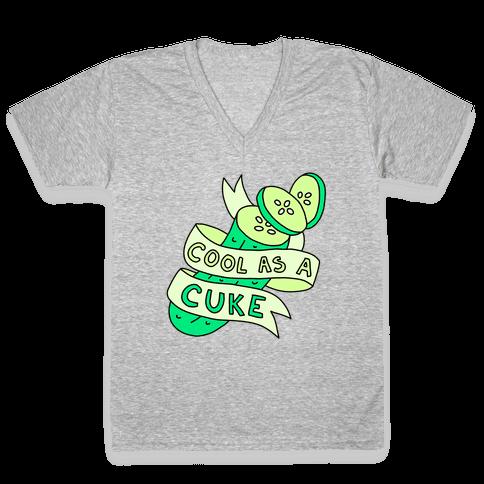 Cool As A Cuke V-Neck Tee Shirt