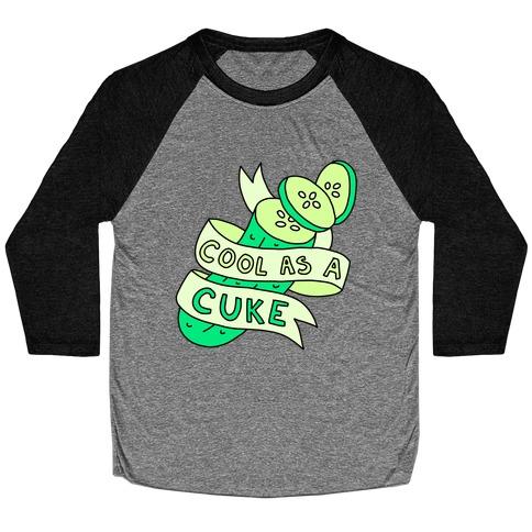 Cool As A Cuke Baseball Tee