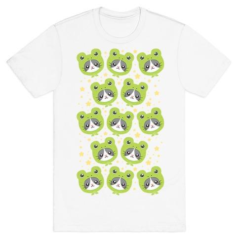 Frog Hat Cat T-Shirt