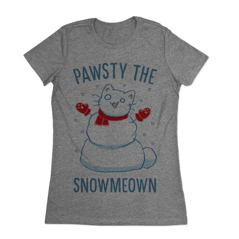 Pawsty The Snowmeown Womens T-Shirt