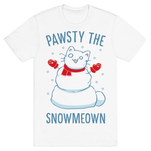 Pawsty The Snowmeown T-Shirt