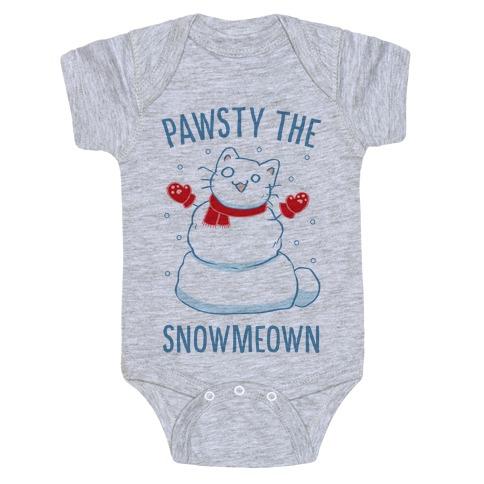 Pawsty The Snowmeown Baby Onesy