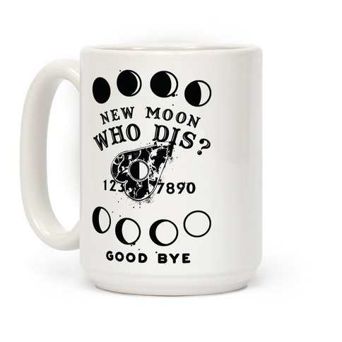 New Moon Who Dis Ouija Board Planchette Moon Phase Witch Coffee Mug
