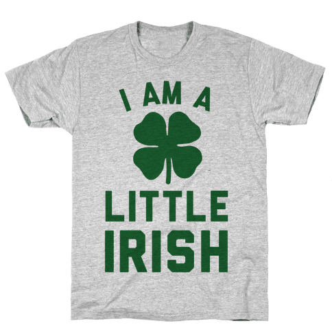 I Am A Little Irish Mens T-Shirt
