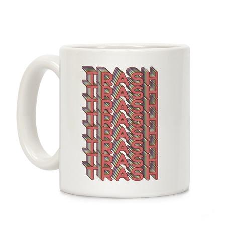 Trash Retro Rainbow Coffee Mug