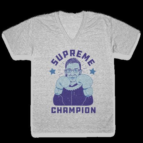 Supreme Champion RBG V-Neck Tee Shirt