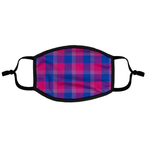 Bi Pride Flag Plaid Flat Face Mask