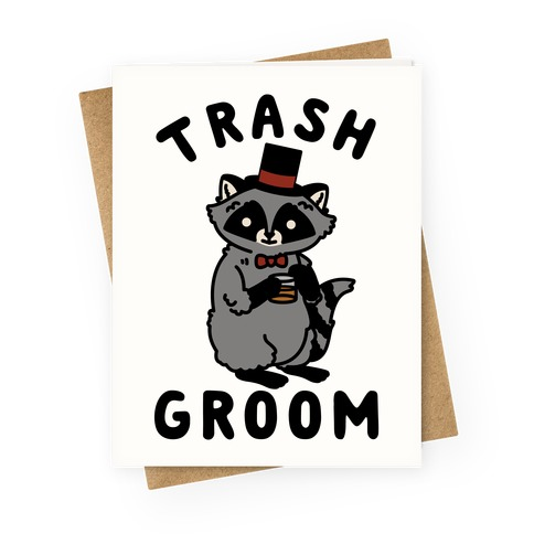 Trash Groom Raccoon Bachelor Party Greeting Card
