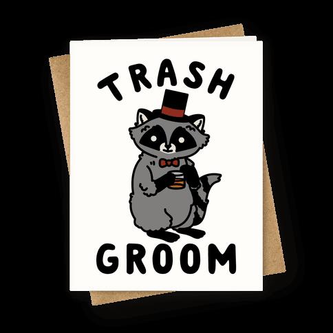 Trash Groom Raccoon Bachelor Party Greeting Card