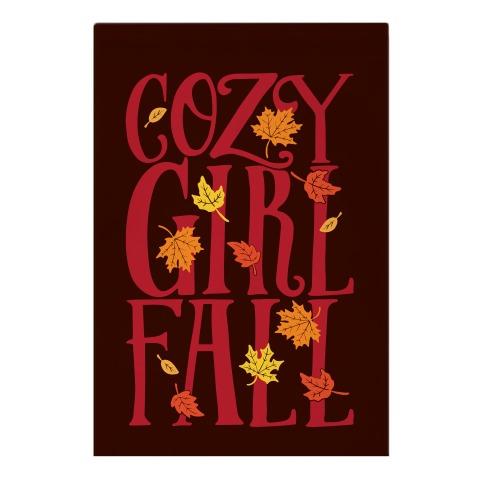 Cozy Girl Fall Garden Flag