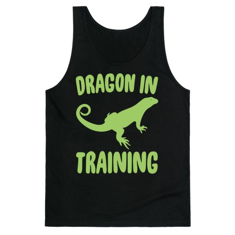Dragon In Training White Print Tank Top
