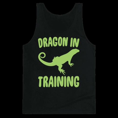 Dragon In Training White Print Tank Top