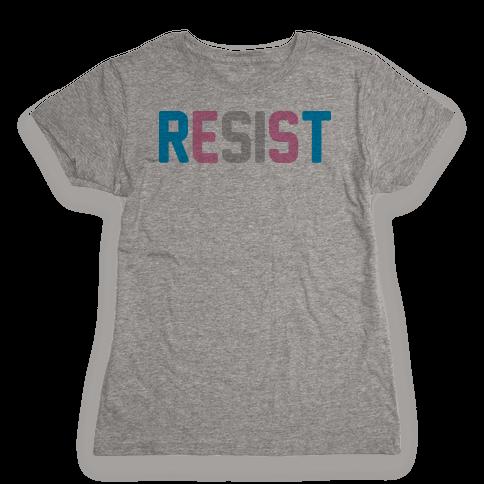 Transgender Resist Womens T-Shirt