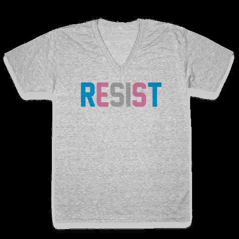 Transgender Resist V-Neck Tee Shirt
