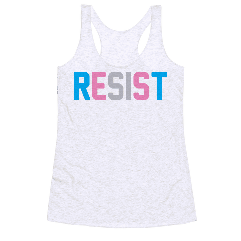 Transgender Resist Racerback Tank Top
