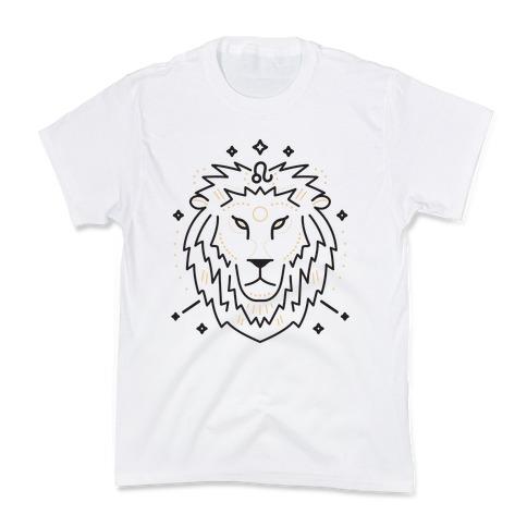 Astrology Leo Lion Kids T-Shirt