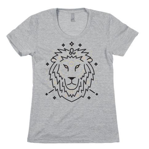 Astrology Leo Lion Womens T-Shirt