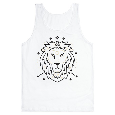 Astrology Leo Lion Tank Top