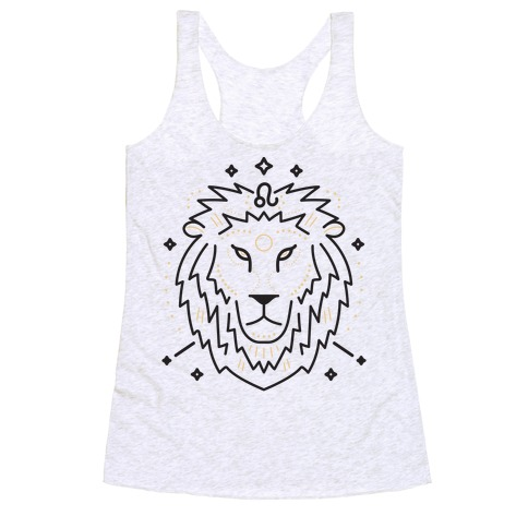 Astrology Leo Lion Racerback Tank Top