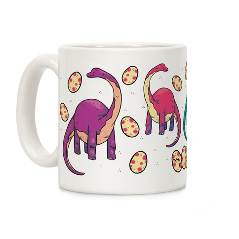 Dinosaurs and Eggs Coffee Mug