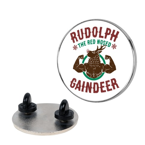 Rudolph The Red Nosed Gaindeer Pin