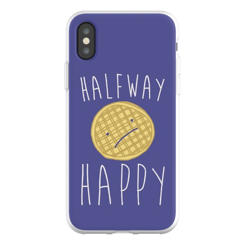 Halfway Happy Parody Phone Flexi-Case