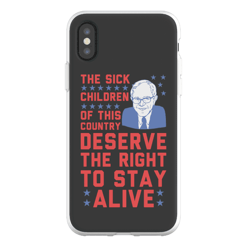 The Right To Stay Alive Bernie Phone Flexi-Case